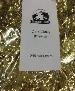 gold glitter 0,40hex 1mm